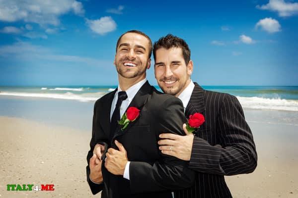 свадьба геев в Италии на море