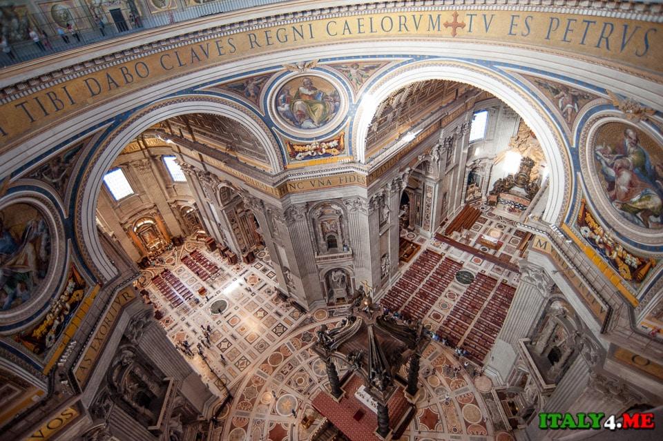 собор святого Петра в Ватикане вид с купола
