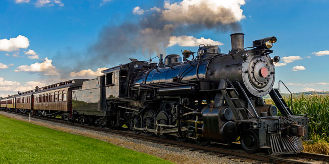 Старинный поезд