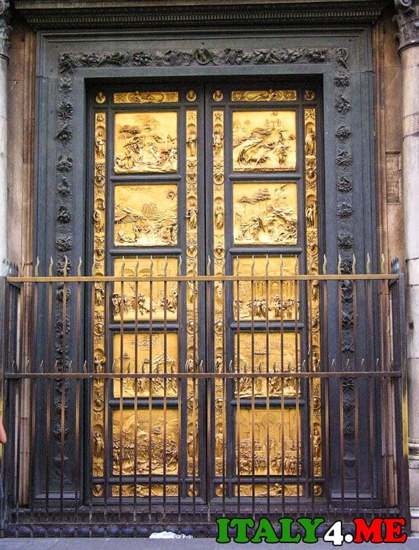 Лоренцо Гиберти ворота рая Флоренция