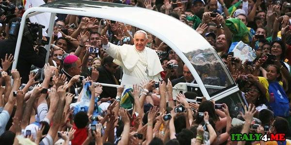 папа римский в Бразилии