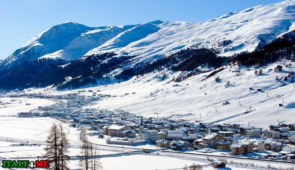 горнолыжный курорт Ливиньо в Италии