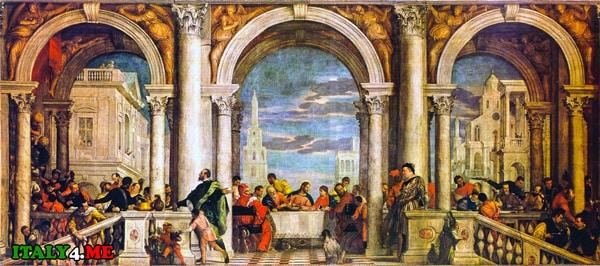 Паоло-Веронезе-Пир-в-доме-Левия-Галерея-академии-в-Венеции