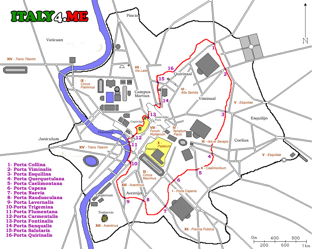 Стена-Аврелиана-Рим