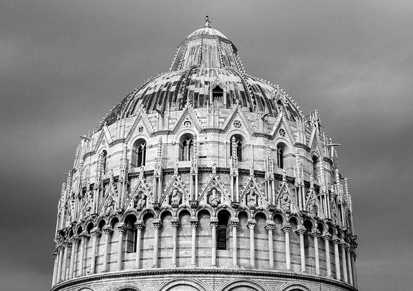 Верхний ярус купол пизанского баптистерия