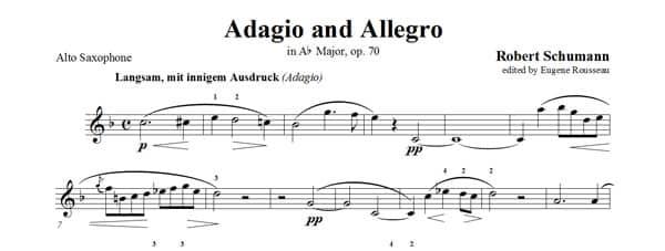 Adagio Allegro итальянские слова ноты