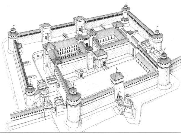 Замок Сфорца чертеж