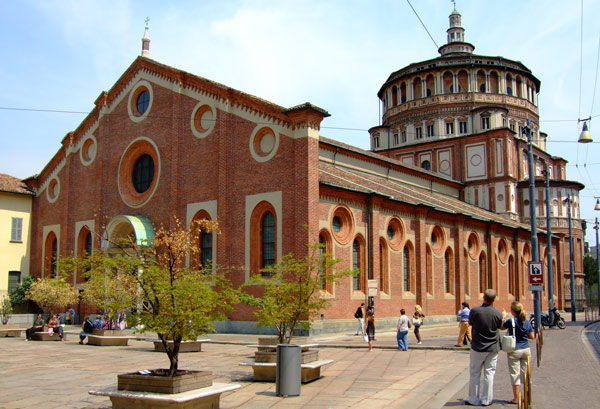 Храм Санта-Мария-делле-Грацие внешний вид