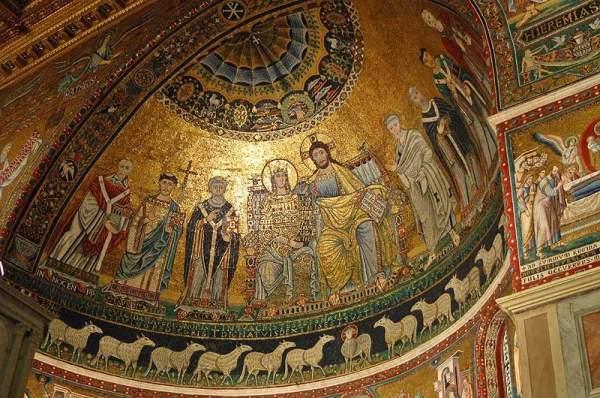 Санта-Мария-ин-Трастевере - Роспись купола