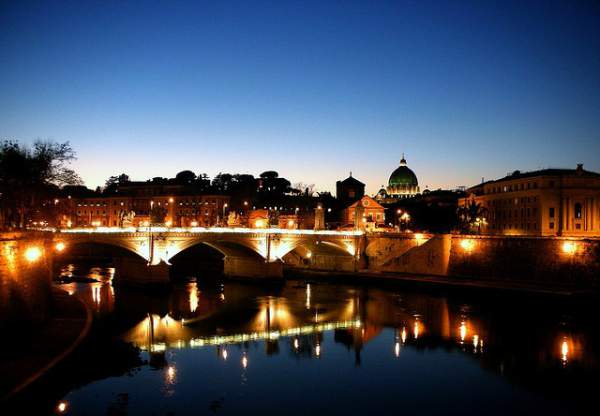 TТрастевере - вид на ночной Рим