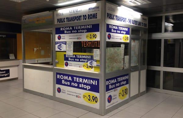 Билеты на автобус аэропорт Чампино Рим 3,9 евро