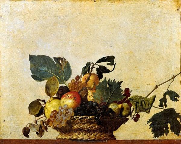 Караваджо корзина с фруктами