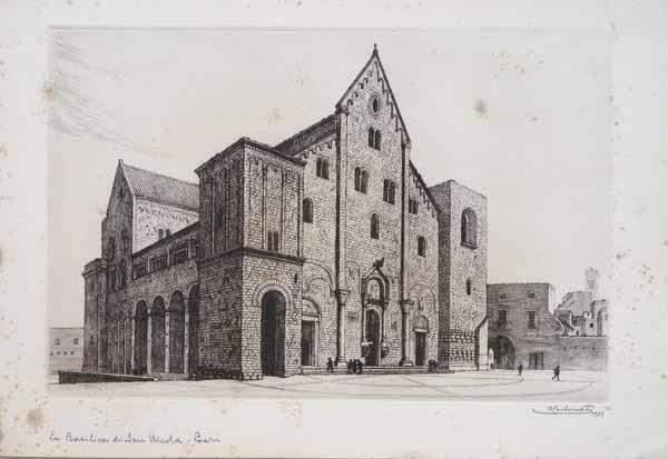 Храм св.Николая Чудотворца в Бари - Эскиз