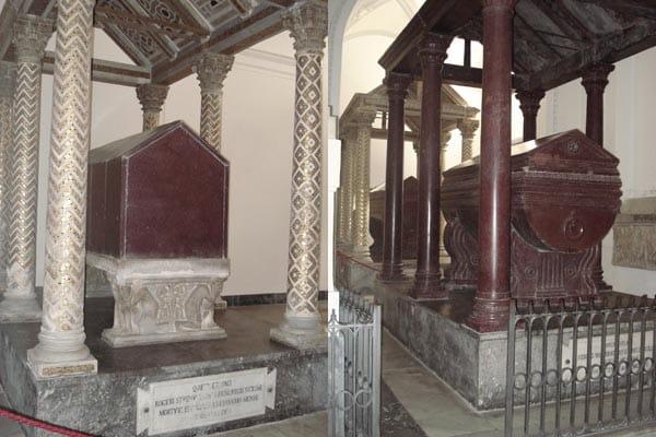 Кафедральный собор Палермо - саркофаги королей Рожера и Генриха VI
