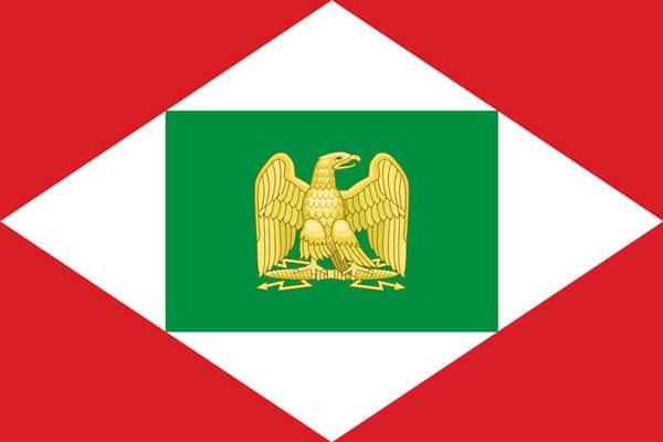императорский орел Наполеона на флаге Итальянского королевства