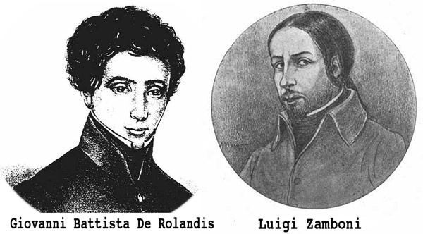Luigi Zamboni Giovanni Battista De Rolandis