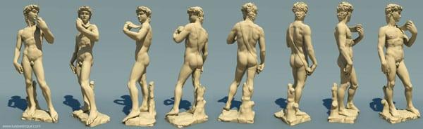 Давид Микеланджело скульптура с разных сторон