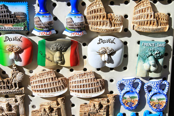 сувениры магнитики со статуей Давида Микеланджело