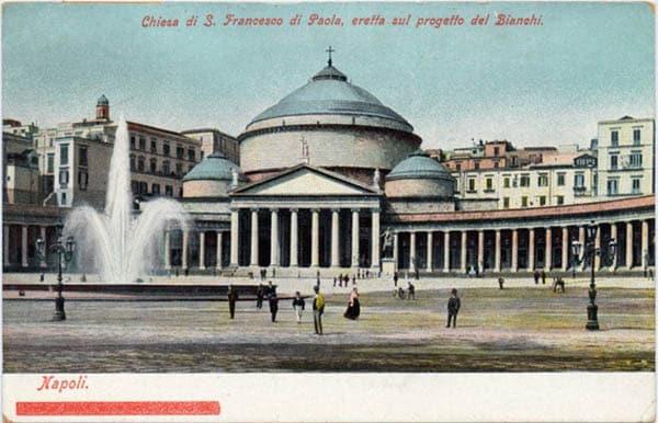 Базилика Сан-Франческо ди Паола в Неаполе - открытка 1905 г