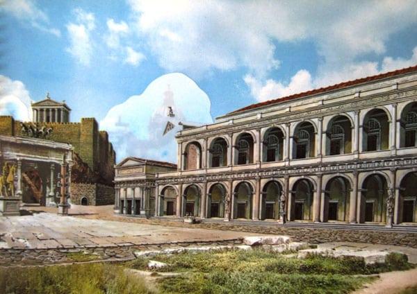 Римский форум - реконструкция Базилики Амелия