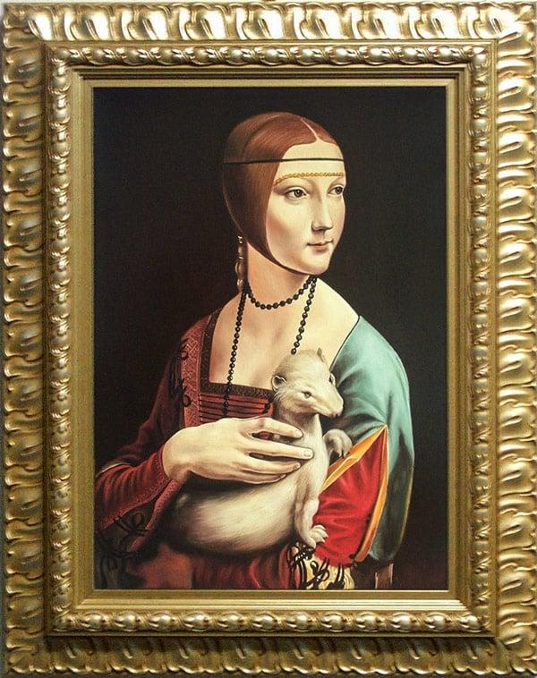 """картина """"Дама с горностаем"""" Леонардо да Винчи портрет Цецилии Галлерани"""