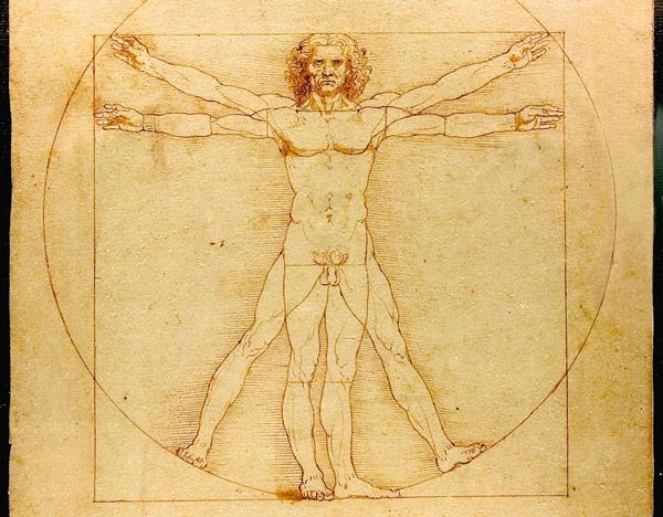 """Homo vitruviano Leonardo Рисунок """"Витрувианский человек"""""""