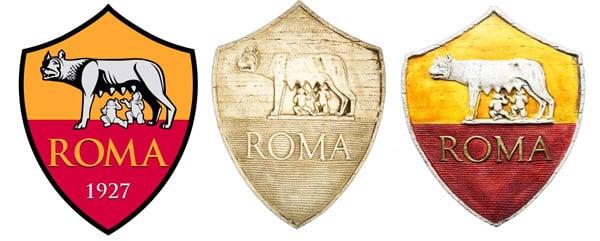 футбольный клуб Roma символ герб волчица
