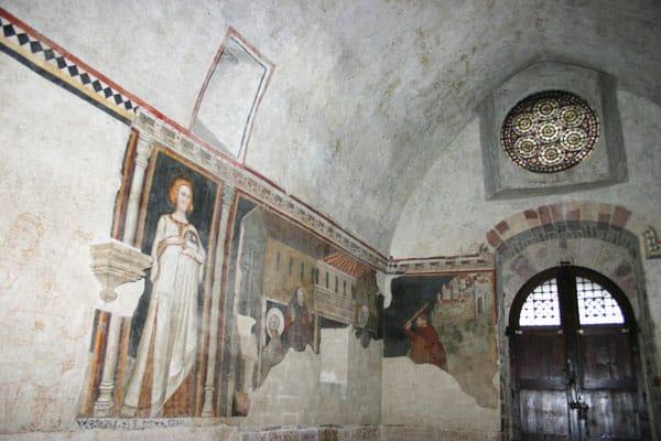 Фрески в церкви Святого Дамиана