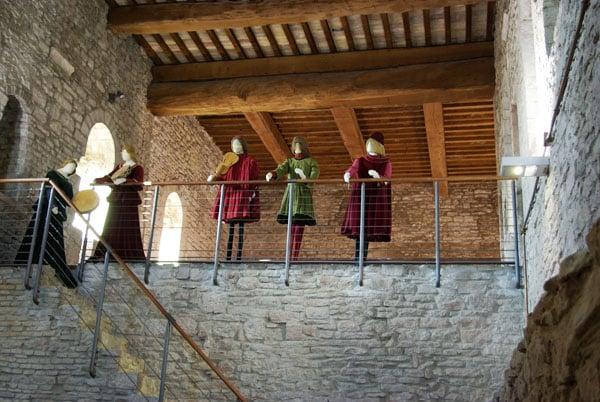 Ассизи - Большая крепость, инсценировка быта