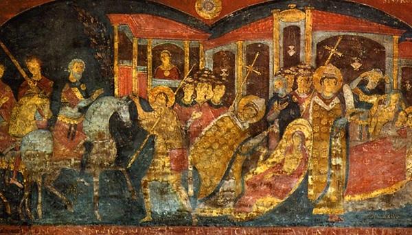 Базилика Сан-Клементе - Фрески со святым Алексием