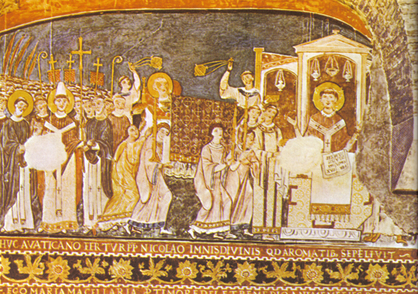 Базилика Сан-Клементе - Фрески