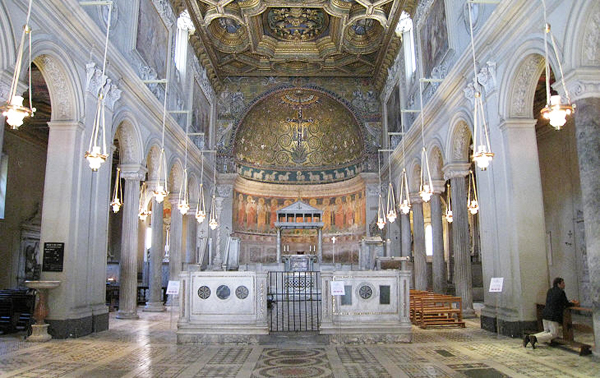 Базилика Сан-Клементе - Верхний ярус