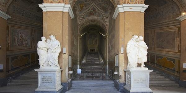 Святая лестница (Scala Santa) в районе Монти Рим