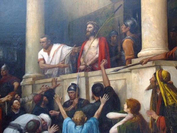 Святая лестница в Риме - Картина М.Мункачи