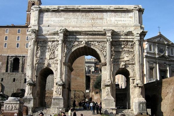 Арки в Риме - Арка Септимия Севера