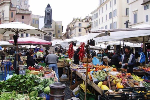 Рынки Рима - Кампо деи Фьоре