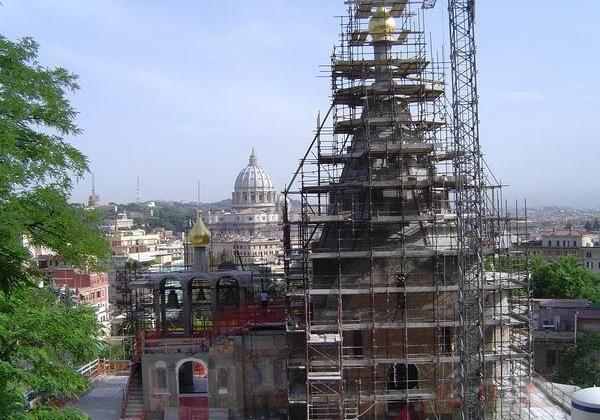 Строительство Храма святой Екатерины в Риме