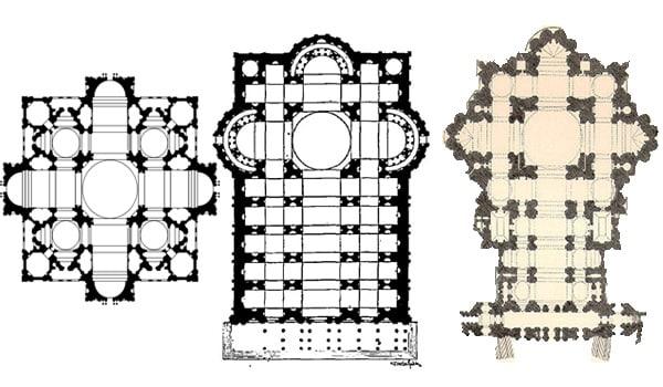 Собор Святого Петра в Ватикане - Эволюция проектов