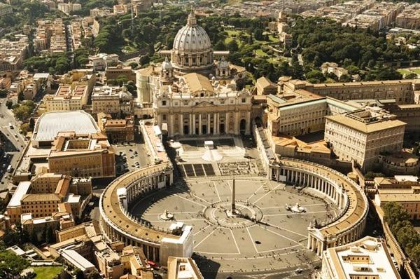 Площадь Святого Петра - вид сверху