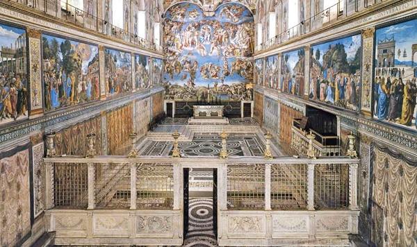 Сикстинская капелла в Ватикане - Интерьер