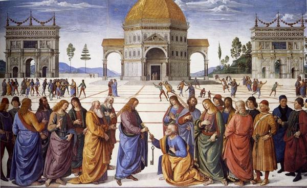 Сикстинская капелла в Ватикане - Фреска Перуджино