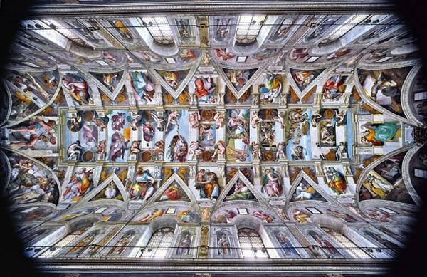 Сикстинская капелла в Ватикане - Потолок