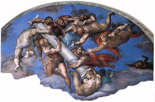 Сикстинская капелла в Ватикане - Страшный суд фрагмент