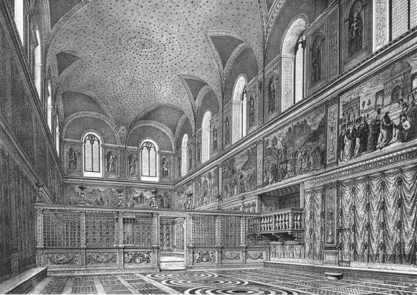Сикстинская капелла в Ватикане - Изначальный вид