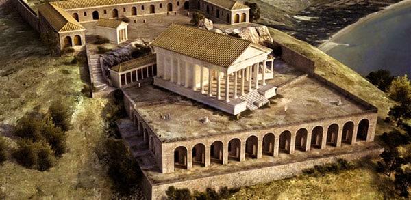 Храм Юпитера Террачина компьютерная реконструкция