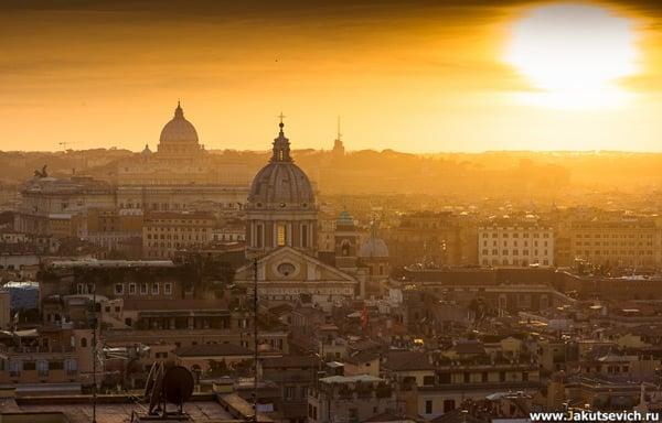 hotel Hassler Roma вид с террасы отеля на панораму Рима