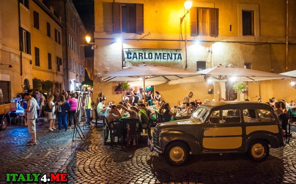 Carlo_Menta_restoran_Trastevere_Rim