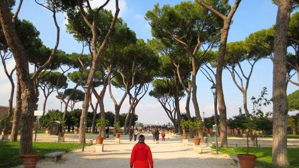 Апельсиновый сад в Риме - Вид на парк