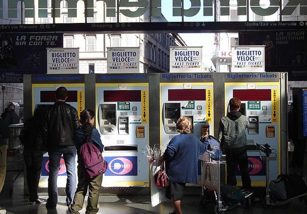 Билетные автоматы в Термини