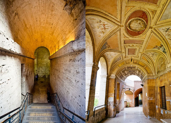 Замок Святого Ангела в Риме - Коридоры замка